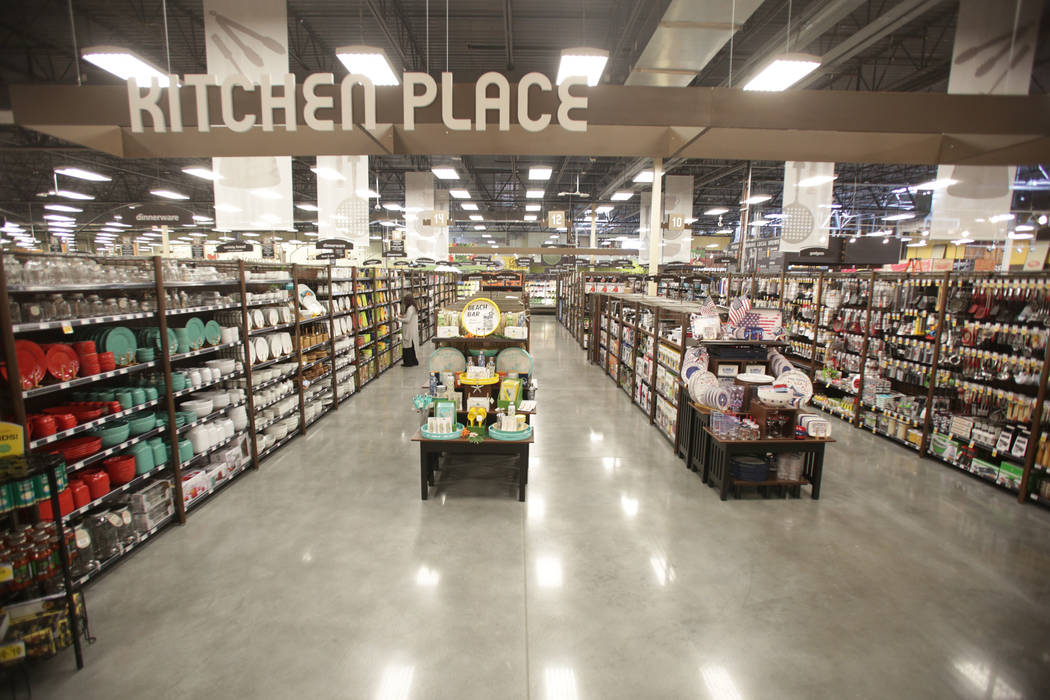 Home Goods fill several aisles at the new 125,000-square-foot Smith's Marketplace on Skye Canyon Road on Tuesday, June 12, 2018 the day before it's grand opening. Michael Quine Las V ...