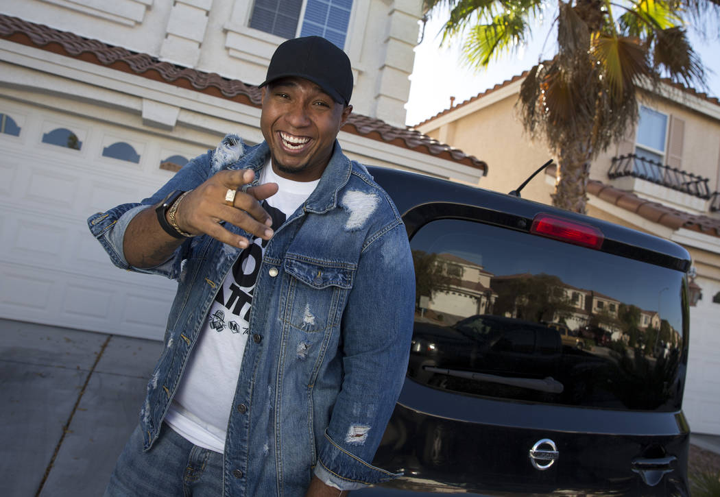 Professional beatboxer Jay R poses at his home in southwest Las Vegas on Thursday, June 14, 2018. Jay R will host the Las Vegas Beat Box Battle on Saturday, June 23 at the Downtown Container Park. ...