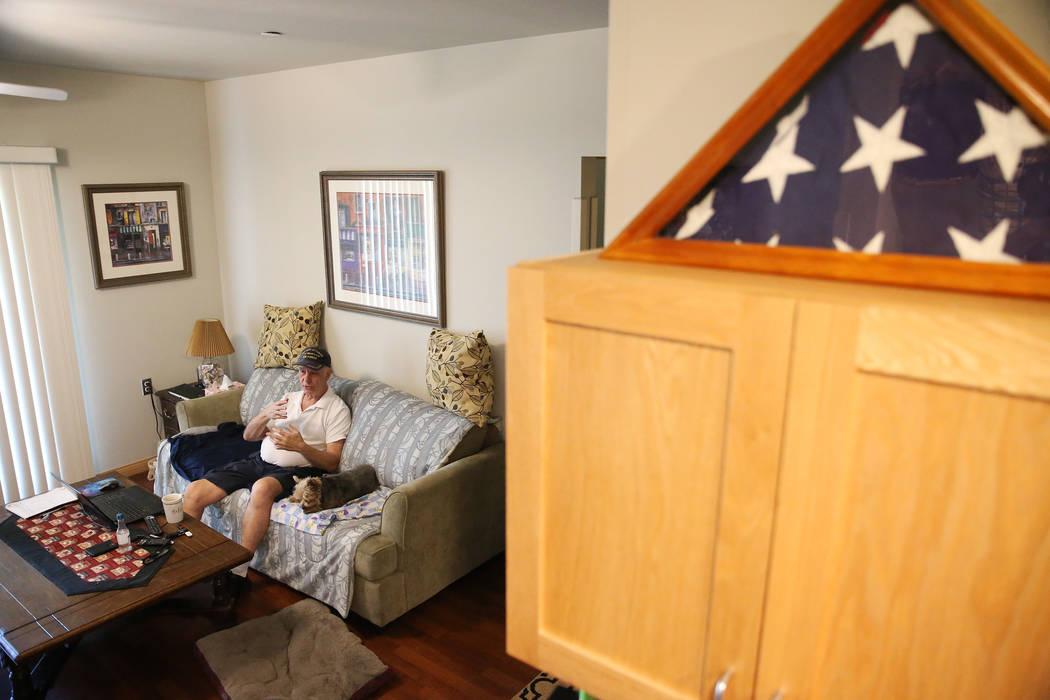 U.S. Air Force veteran Richard Sullo inside his apartment at the Patriot Place Apartments in Las Vegas, Thursday, June 14, 2018. Erik Verduzco Las Vegas Review-Journal @Erik_Verduzco
