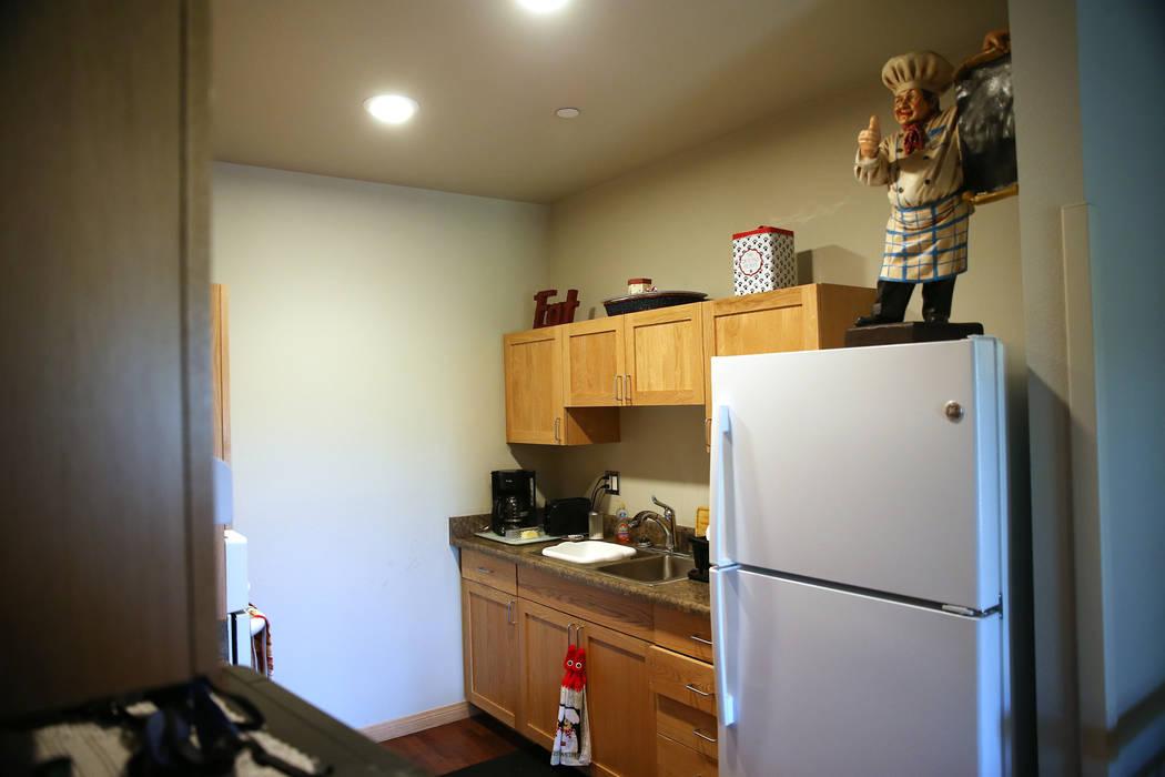 The apartment of U.S. Air Force veteran Richard Sullo inside at the Patriot Place Apartments in Las Vegas, Thursday, June 14, 2018. Erik Verduzco Las Vegas Review-Journal @Erik_Verduzco