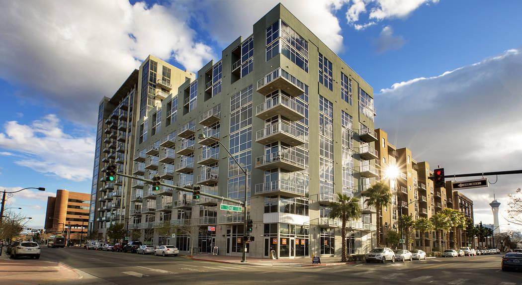 Juhl Juhl is a 344–residence, loft-style community that spans an entire city block in downtown Las Vegas.