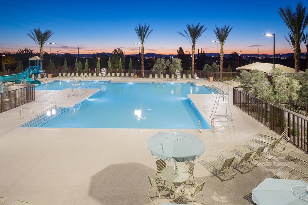 The Vistas community pool, adjacent The Paseos village, provides summertime fun for residents of Summerlin. This large community pool features a water slide plus children's play lagoon with spec ...