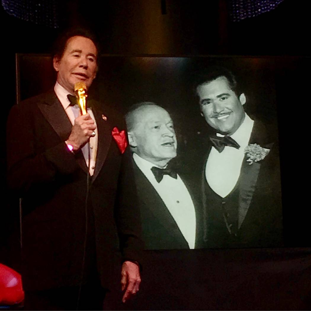 """Wayne Newton talks of taking over for Bob Hope as Chairman of the USO Celebrity Circle during a performance of """"Up Close & Personal"""" at Windows Showroom at Bally's. (John Katsilometes/Review-Journal)"""