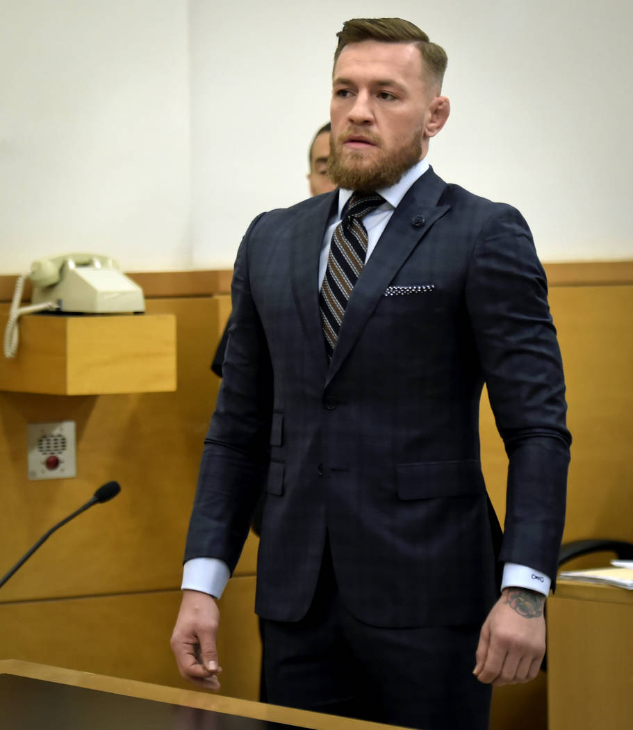 Mixed martial arts fighter Conor McGregor appears at Brooklyn Supreme Court, Thursday, June 14, 2018, in New York. (Rashid Umar Abbasi /New York Post via AP, Pool)