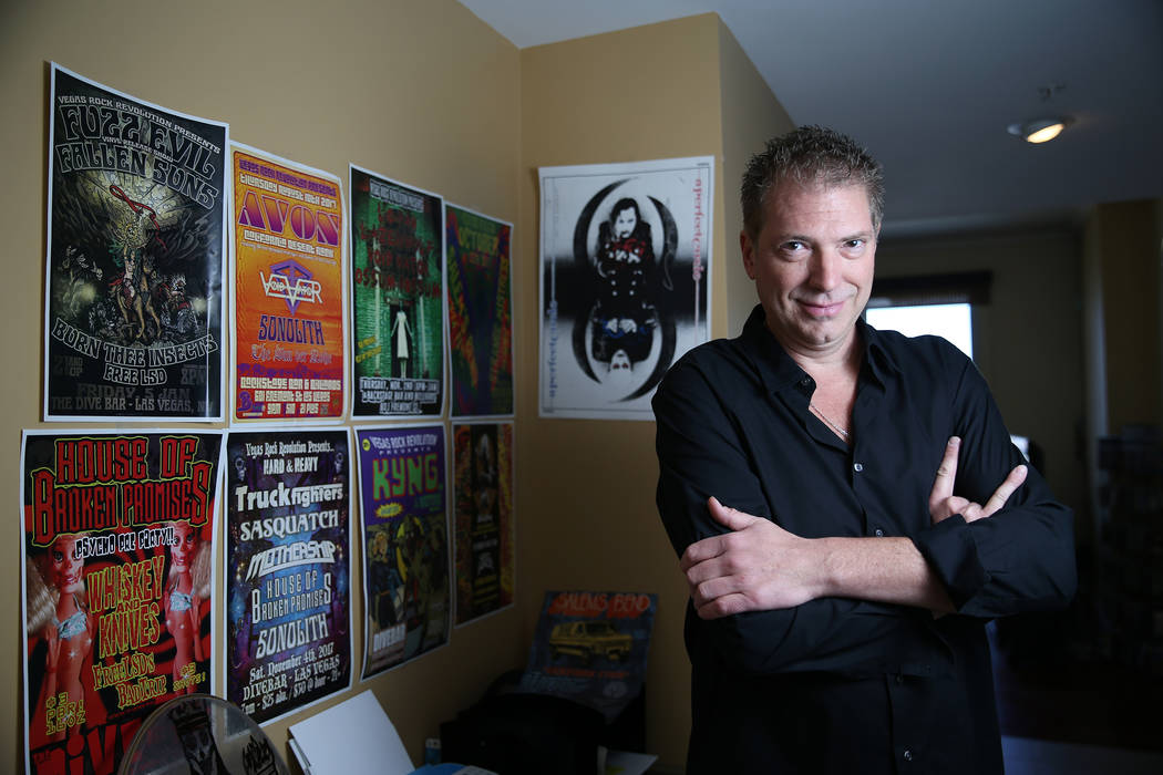 John Gist, CEO and event producer for Vegas Rock Revolution, poses in his Las Vegas home, Thursday, June 21, 2018. Erik Verduzco Las Vegas Review-Journal @Erik_Verduzco