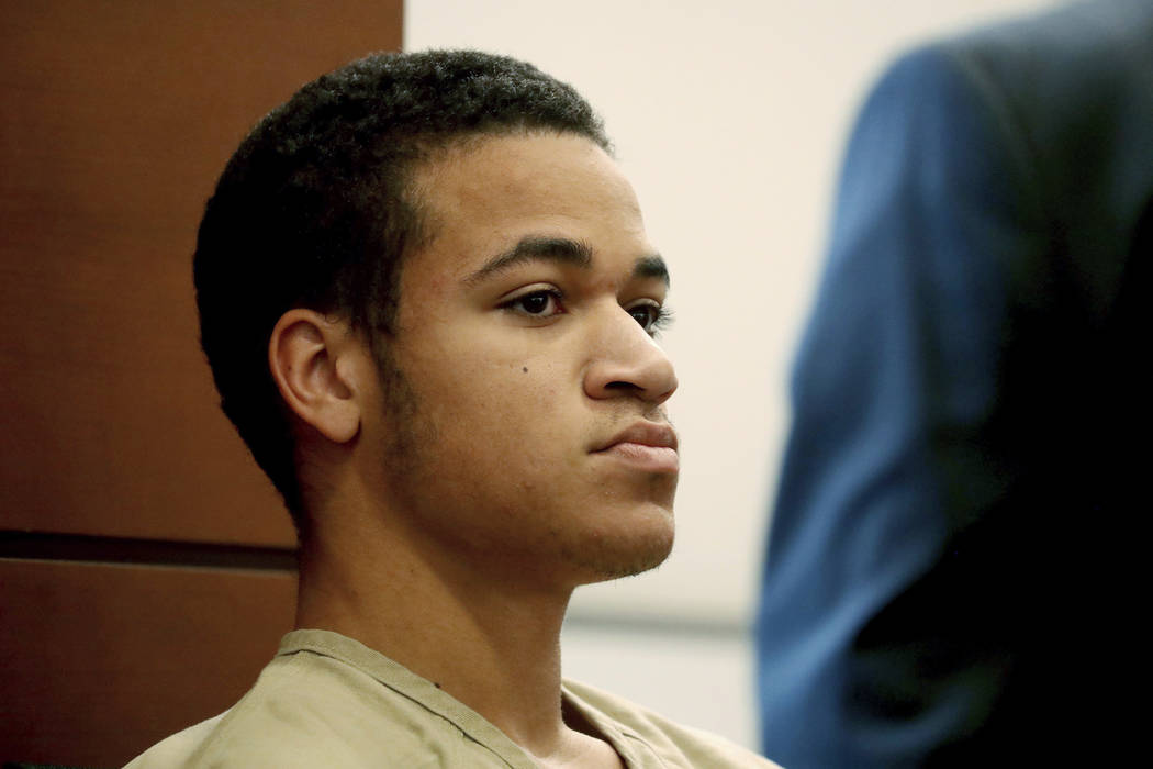 Zachary Cruz, brother of Nikolas Cruz who's accused of killing 17 students and staff members at the school Feb. 14, appears in court in Fort Lauderdale, Fla. on March 29, 2018. (Susan Stocker/Sout ...