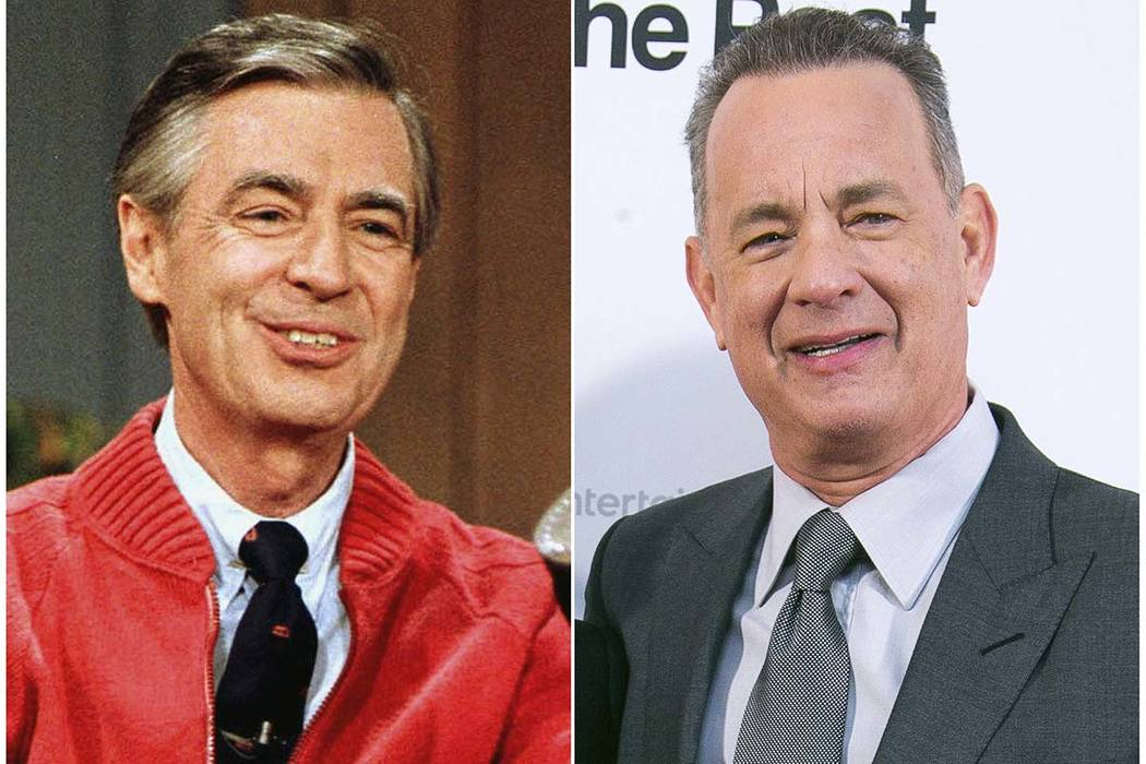 Fred Rogers and Tom Hanks. (AP Photo)