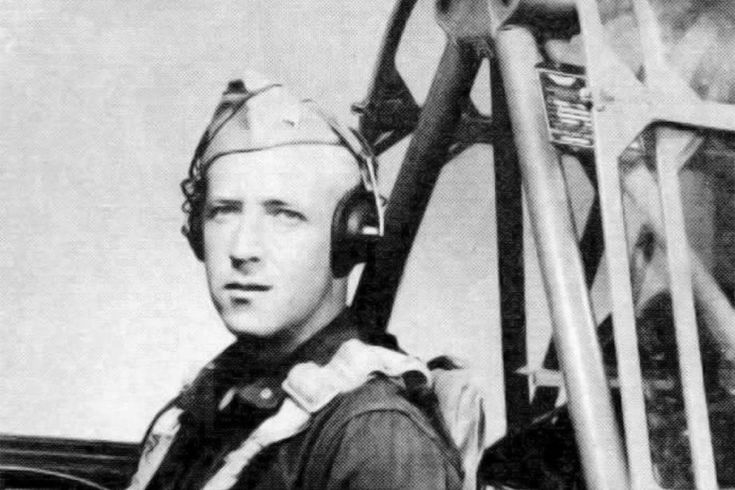 This 1943 photograph released by the U.rS. Army Air Forces, the predecessor to today's Air Force, shows Second Lt. Robert Keown in the cockpit of a training aircraft in California. Keown, a Georgi ...