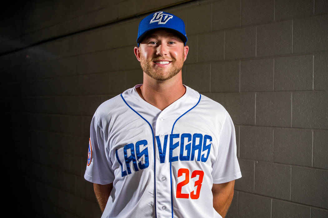 51s pitcher Tim Peterson during the 51s media day at Cashman Field in Las Vegas on Tuesday, April 3, 2018. Patrick Connolly Las Vegas Review-Journal @PConnPie