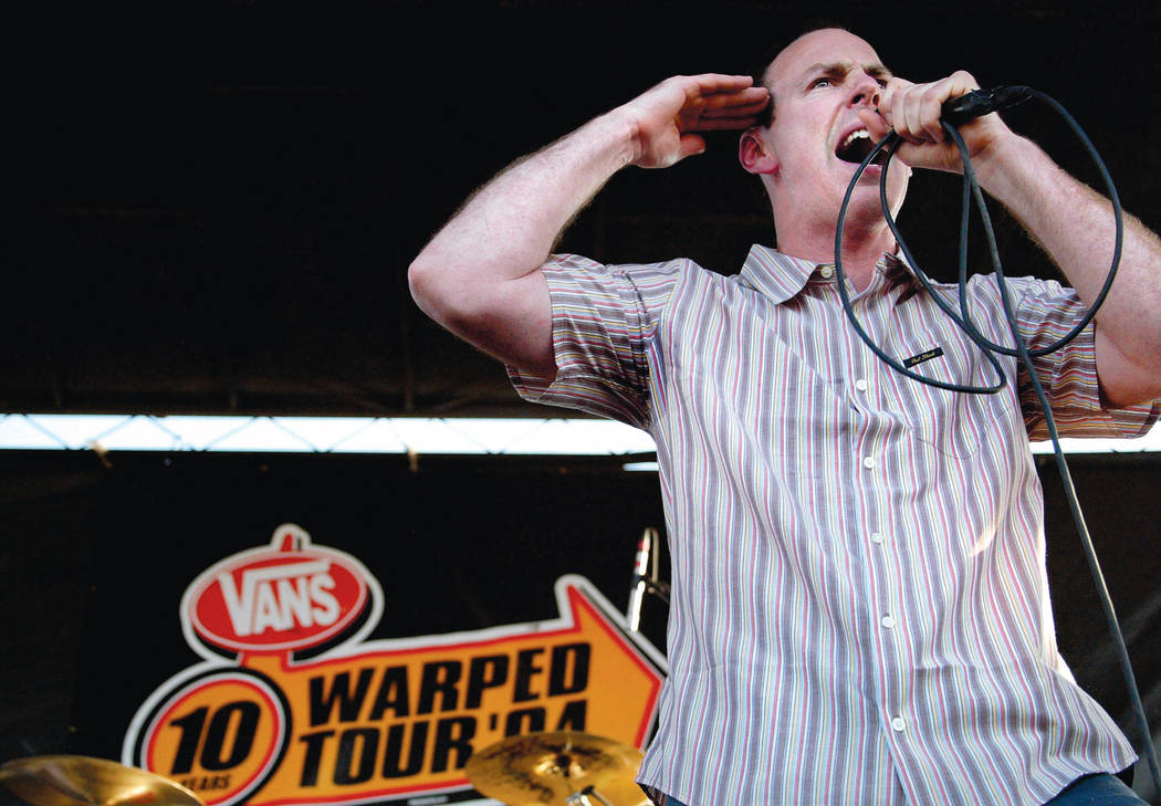 Bad Religion performs during the Warped Tour stop at Desert Breeze Park on Sunday, July 4, 2004. Review-Journal photo by Samantha Clemens.