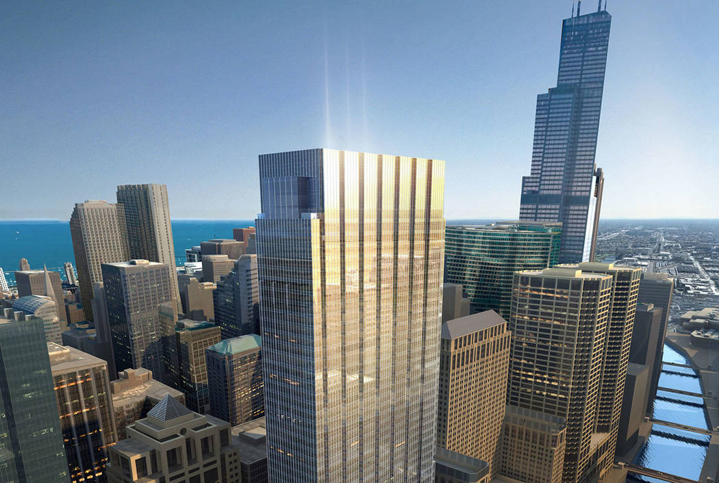 Summerlin developer Howard Hughes Corp. broke ground on 110 North Wacker, a 55-story office building in downtown Chicago. (The Howard Hughes Corp.)