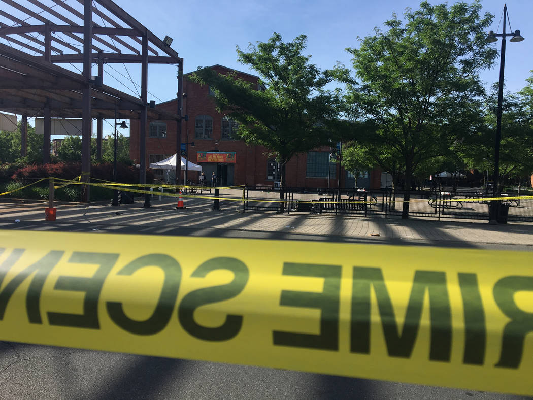 Multiple people were wounded early Sunday, June 17, 2018, when shooting broke out at the Art All Night festival in Trenton, New Jersey, early Sunday, sending people stampeding from the scene and l ...