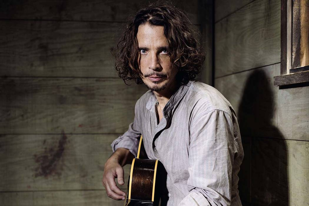 Chris Cornell plays guitar during a portrait session at The Paramount Ranch in Agoura Hills, Calif., in this July 29, 2015 file photo. Chris Cornell's daughter has released a recording of a duet ...