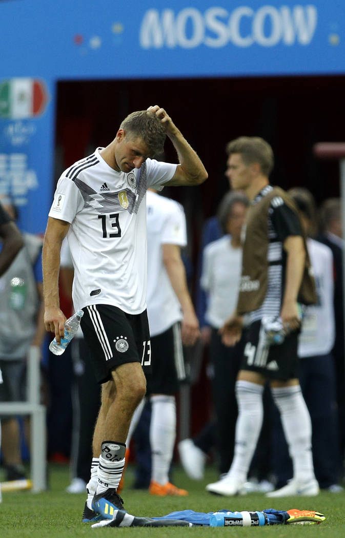 Germany s Thomas Mueller reacts at the end of the group F match between  Germany and Mexico aa10e1066