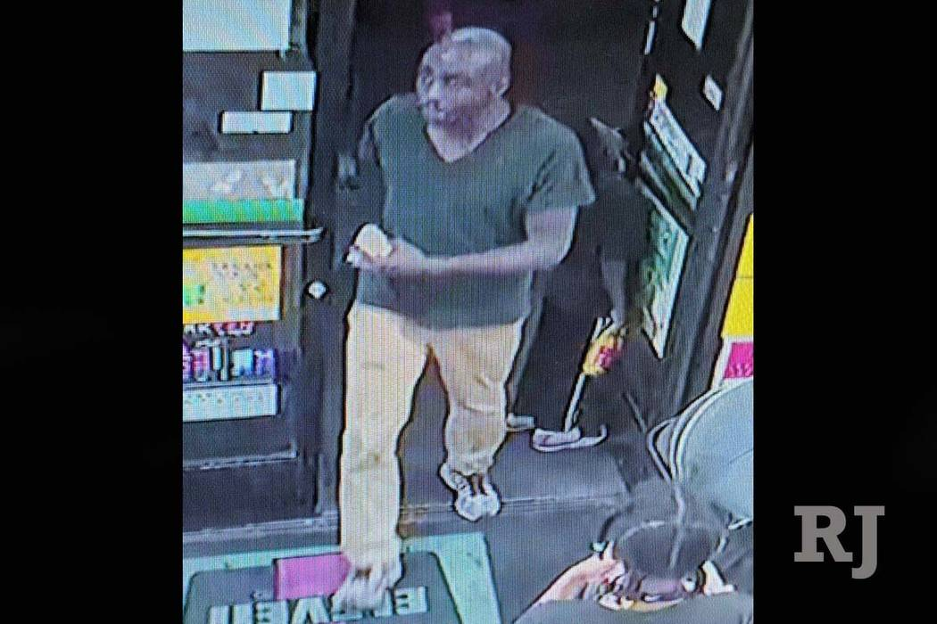 Las Vegas police are looking for this man who is a suspect in a fatal stabbing at a strip malll at 2797 S. Maryland Parkway, Sunday, June 17, 2018, . (Las Vegas Metropolitan Police Department)