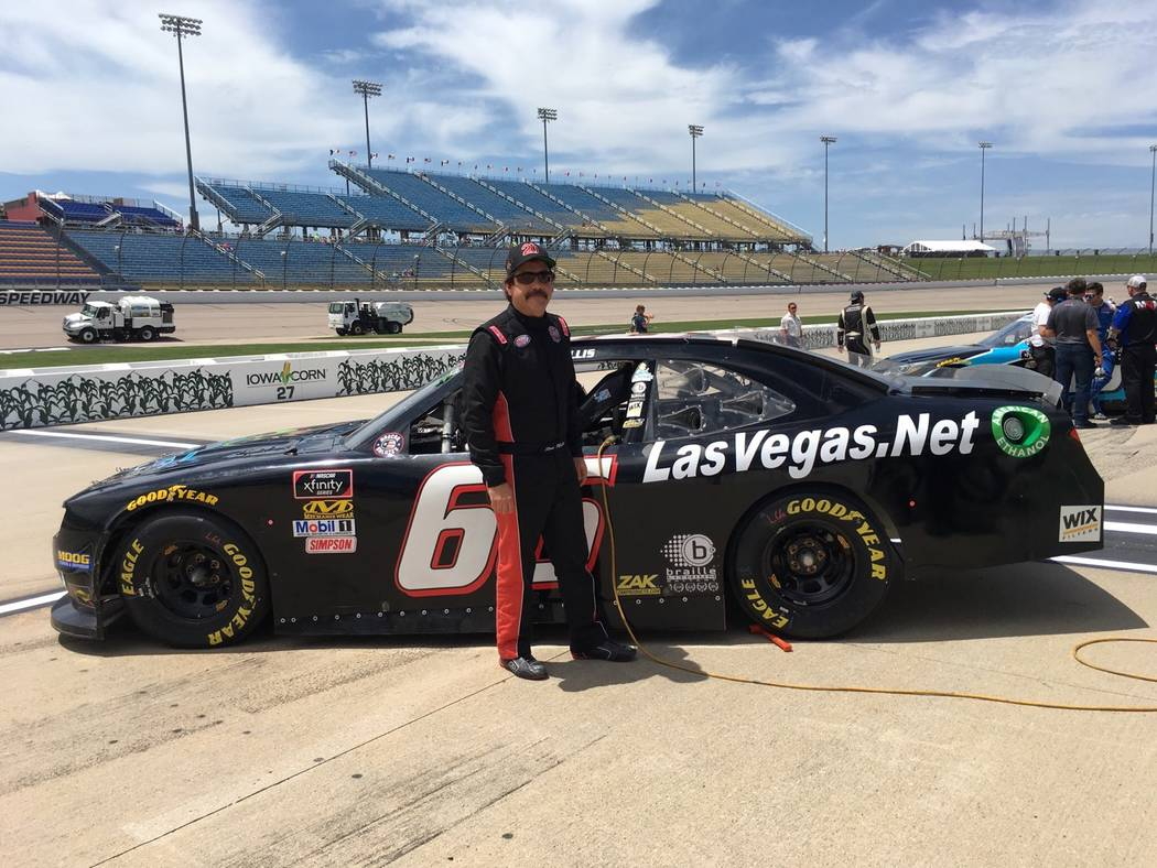 Stan Mullis, a Las Vegas Motor Speedway Bullring competitor, was running at the finish of Sunday's NASCAR Xfinity Series race at Iowa Speedway. (Courtesy: Stan Mullis)