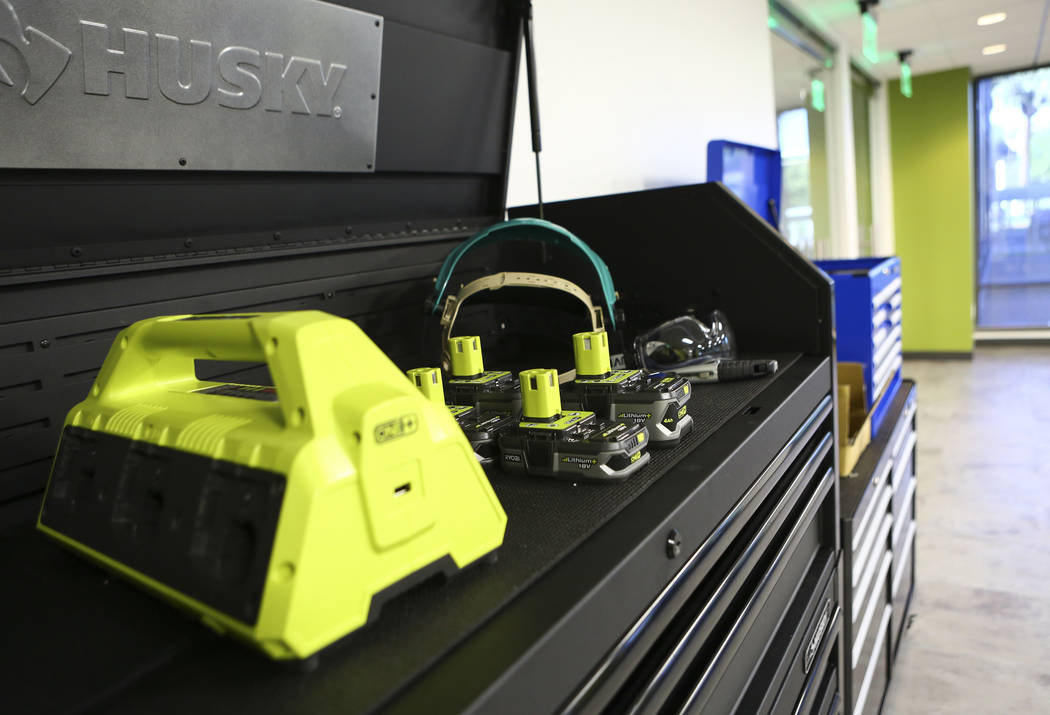 A variety of tools in the Prototyping Lab at the grand debut of the completed Innovation Center at AFWERX Vegas in Las Vegas on Tuesday, June 19, 2018. Chase Stevens Las Vegas Review-Journal @csst ...