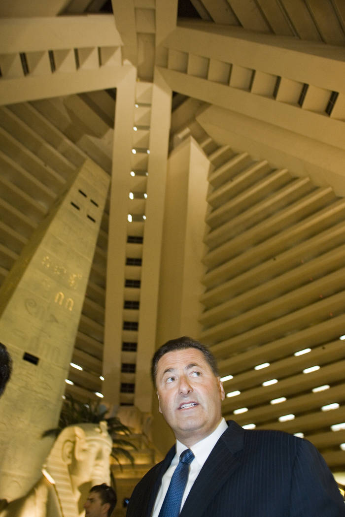 Felix D. Rappaport, then-president and CEO of the Luxor in Las Vegas, gives a tour of the property, July 10, 2007. Rappaport, president and CEO of the Foxwoods tribal casino in Connecticut, was fo ...