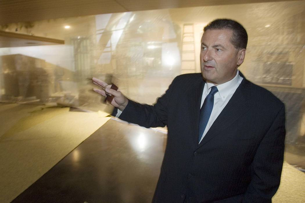 Felix D. Rappaport talks while giving a tour of the Luxor in Las Vegas in 2007. Rappaport, president and CEO of the Foxwoods tribal casino in Connecticut, was found dead in his home Monday, June, ...