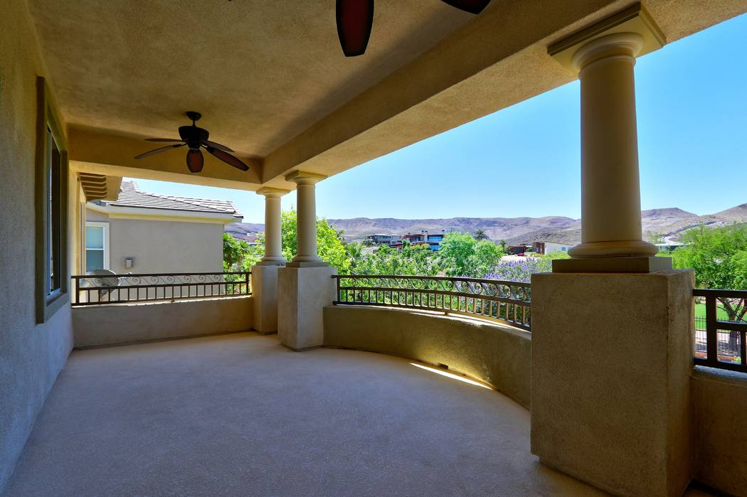 The balcony overlooks the mountains. (Lisa Paquette TourFactory)
