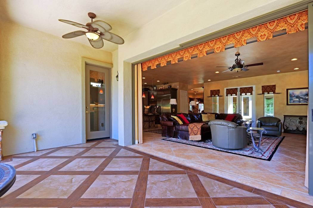 The home has large pocket doors. (Lisa Paquette TourFactory)