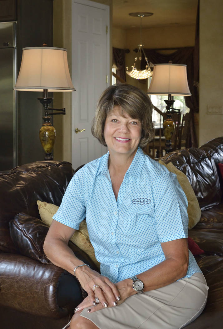 Debbie Shwetz, co-founder of Nothing Bundt Cakes, relaxes at her MacDonald Highlands on May 30. ...