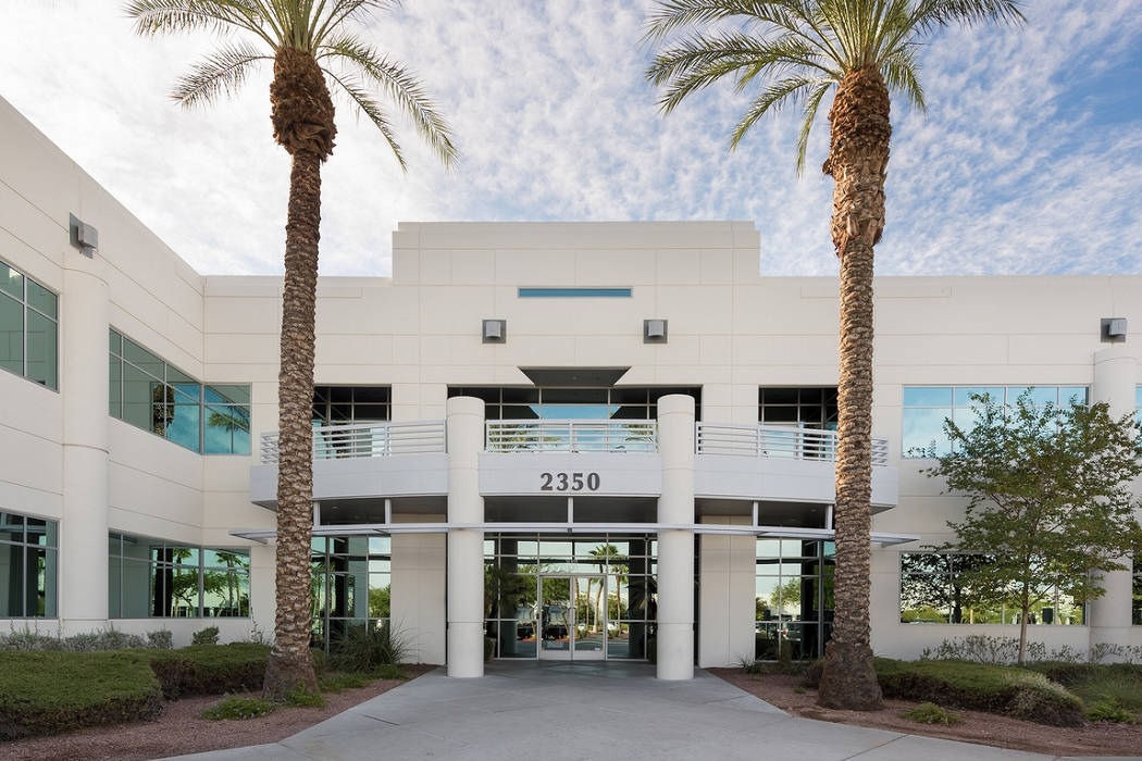 Buchanan Street Partners bought four office buildings in Henderson, including 2350 Corporate Circle, seen above, for almost $28 million. (Cushman & Wakefield)