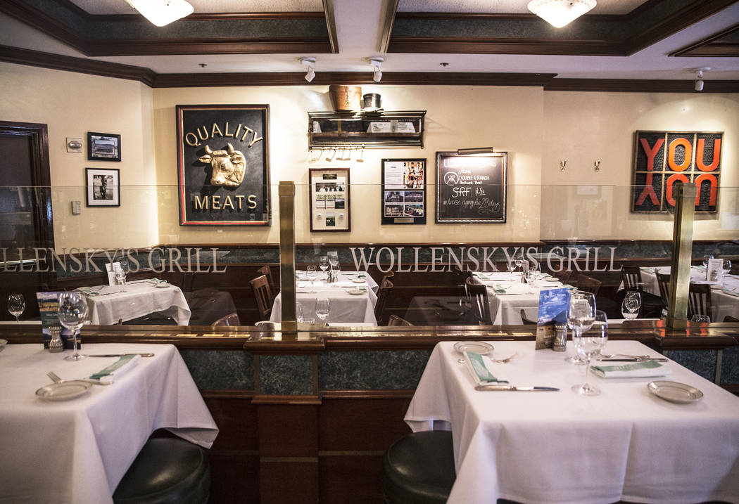 Smith & Wollensky is closing it's doors after a 17 year run on The Strip, and will auction off much of it's artwork and historical memorabilia. Photo taken on Friday, May 26, 2017, at Smith &a ...