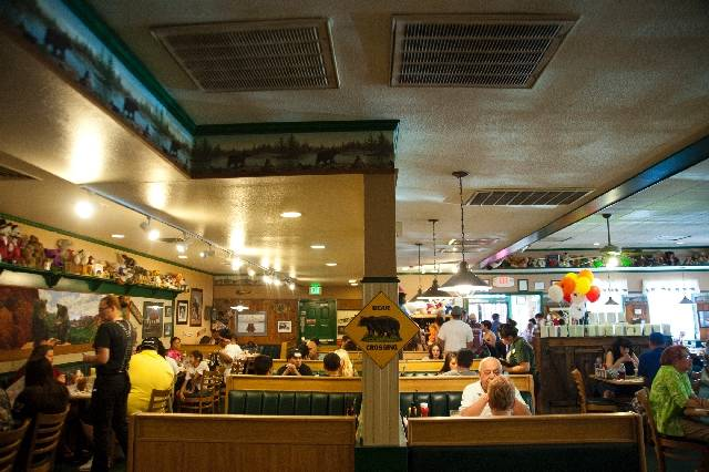 Patrons eat at Black Bear Diner, which knows how to serve a big breakfast, especially the chicken-fried steak and eggs.
