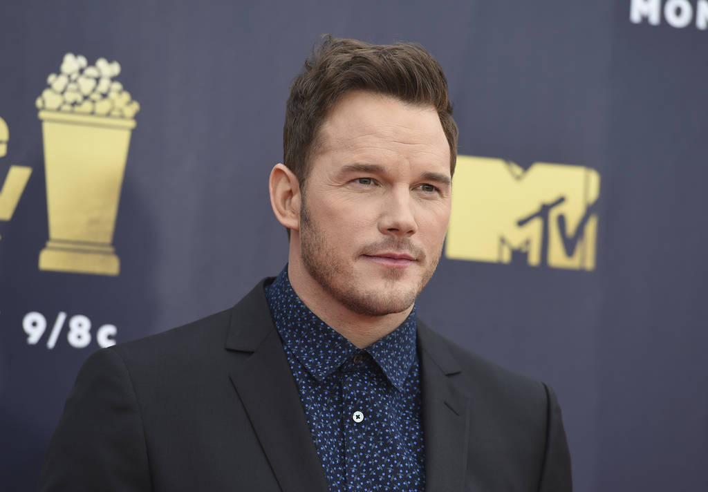 Chris Pratt arrives at the MTV Movie and TV Awards at the Barker Hangar on Saturday, June 16, 2018, in Santa Monica, Calif. (Photo by Jordan Strauss/Invision/AP)