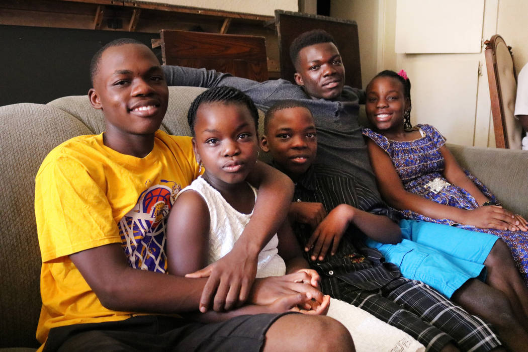 The Mibulano siblings at their home in Las Vegas, Saturday, June 9, 2018. From left to right: Julien, Solange, David, Muhubiri and Sarah. Their sister, Rosy Mibulano was one of the graduates from ...