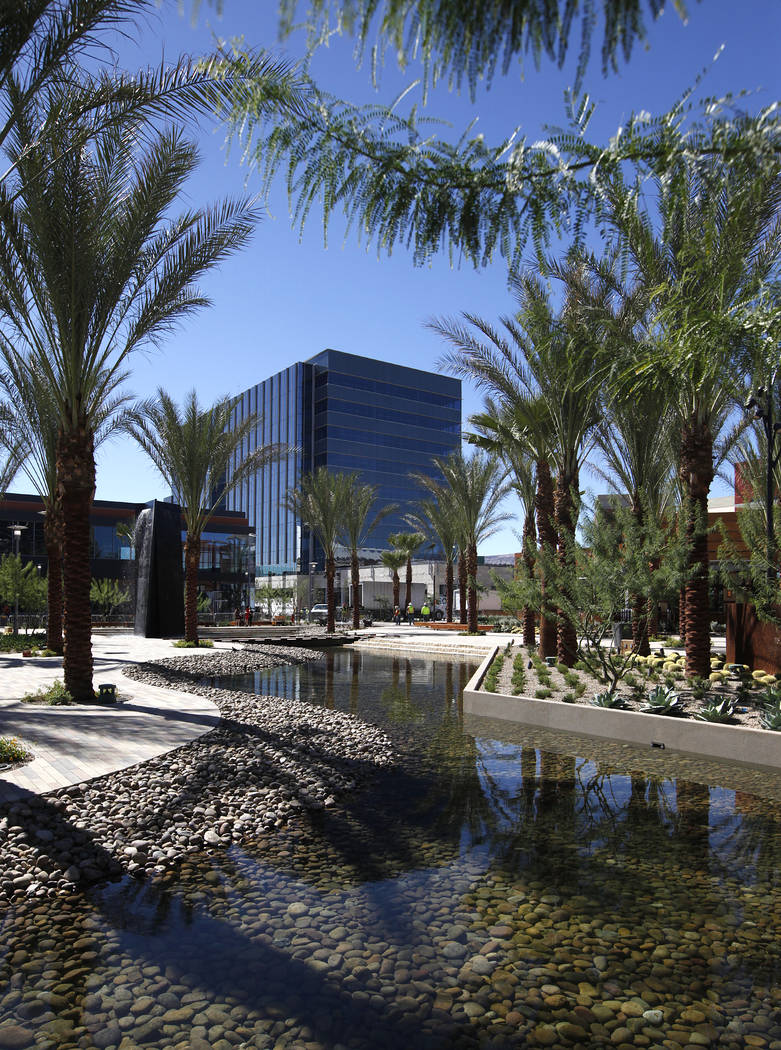 A view of the office building in Downtown Summerlin on Oct. 6, 2014. (Justin Yurkanin RJRealEstate.Vegas)