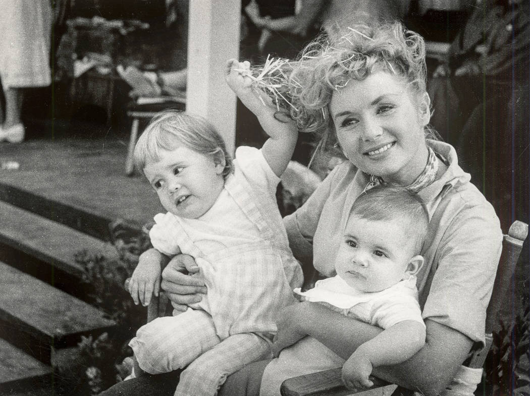 Debbie Reynolds with her children, Carrie Fisher, left, and Todd Fisher. (Fisher Family Archives/HBO)