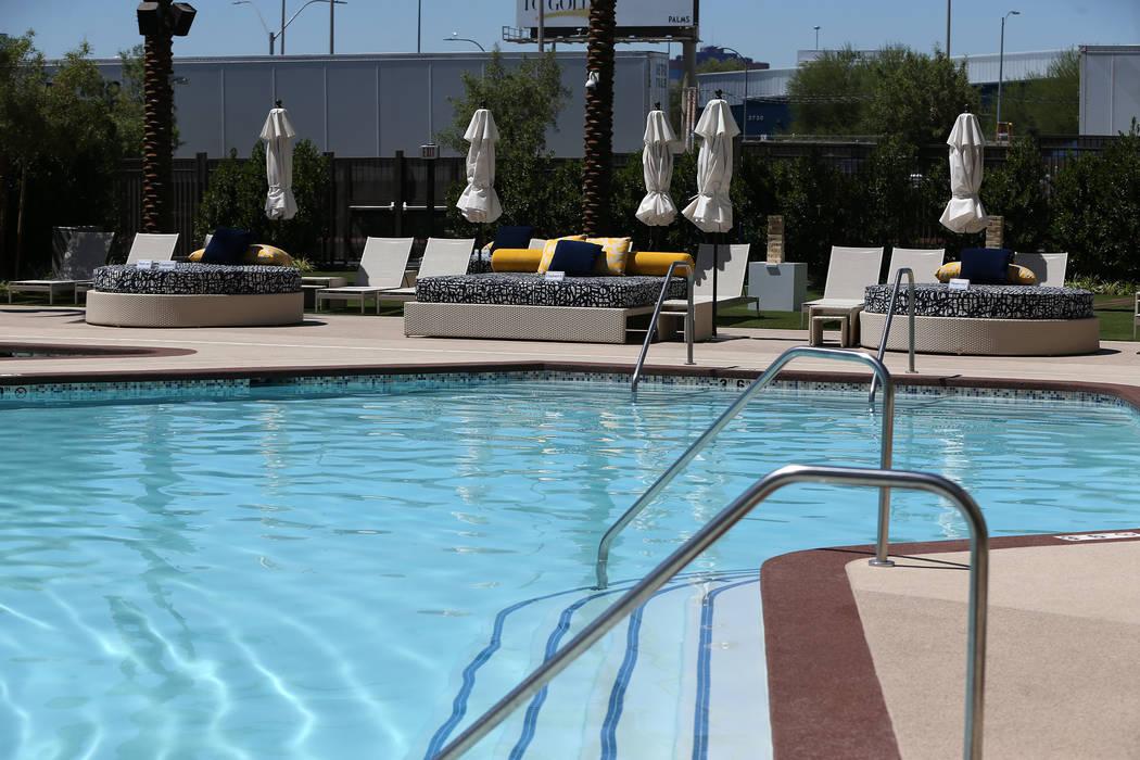 A new pool area at the Palace Station in Las Vegas, Wednesday, June 20, 2018. (Erik Verduzco/Las Vegas Review-Journal) @Erik_Verduzco