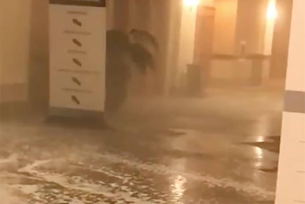 Flooding at Mandalay Bay on Tuesday, June 19, 2018. (Melinda Cook)
