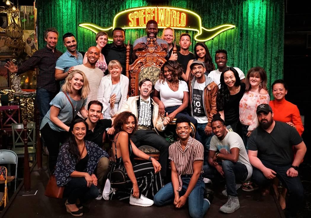 "The cast of ""Hamilton"" visits ""Absinthe"" on Monday, June 18, 2018. (Joseph Sanders)"