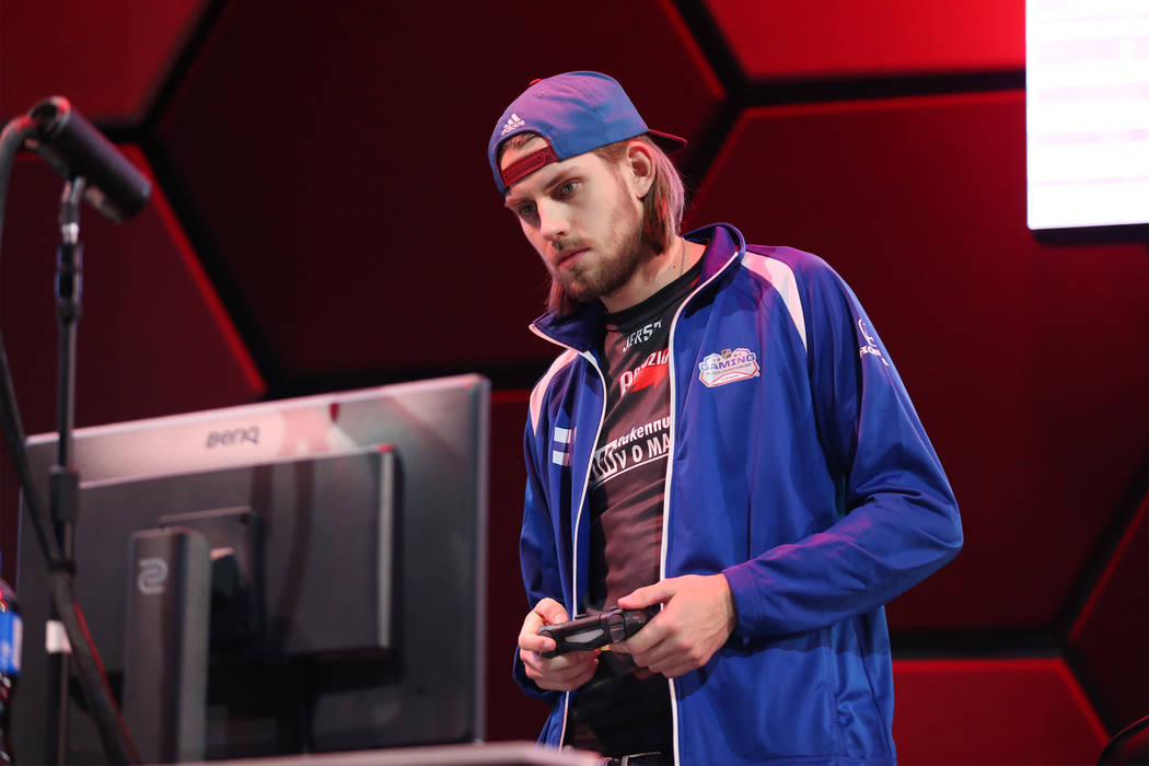 Arttu Mustila competes in the NHL Gaming World Championship at Esports Arena inside the Luxor casino-hotel in Las Vegas, Tuesday, June 19, 2018. Erik Verduzco Las Vegas Review-Journal @Erik_Verduzco