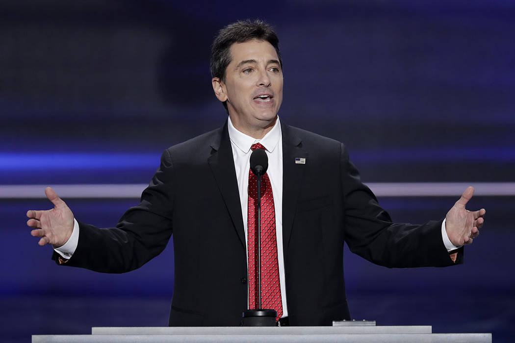 In this July 18, 2016, file photo, actor Scott Baio speaks during the opening day of the Republican National Convention in Cleveland. (J. Scott Applewhite/AP)