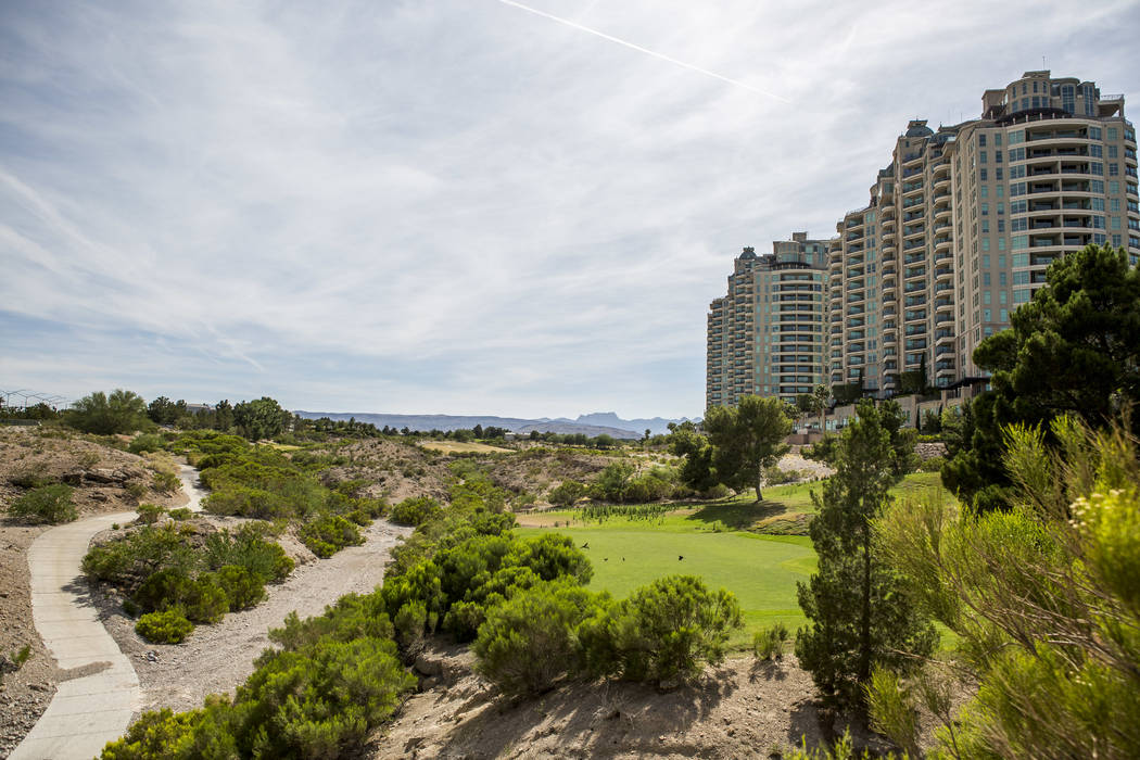 The Badlands Golf Club, shown June 6, 2017, is located in the upscale Queensridge development in western Las Vegas. (Patrick Connolly/Las Vegas Review-Journal) @PConnPie