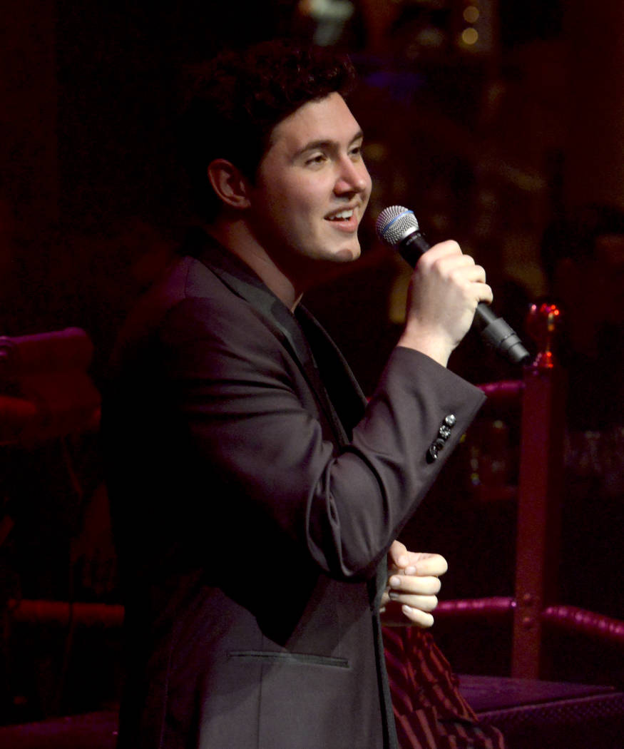 """Daniel Emmet takes center stage during opening night of the musical review """"The Cocktail Cabaret"""" at Cleopatra's Barge in Caesars Palace Hotel & Casino. Thursday, November 30, 2017. Glenn Pinkerto ..."""
