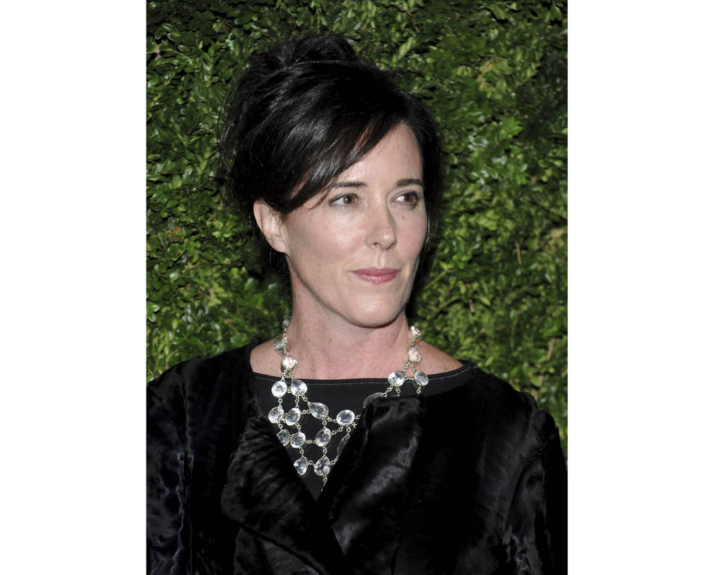 In this Nov. 17, 2008 file photo, designer Kate Spade attends the CFDA/Vogue Fashion Fund finalists event in New York. Kate Spade New York has announced plans to donate $1 million to support suic ...