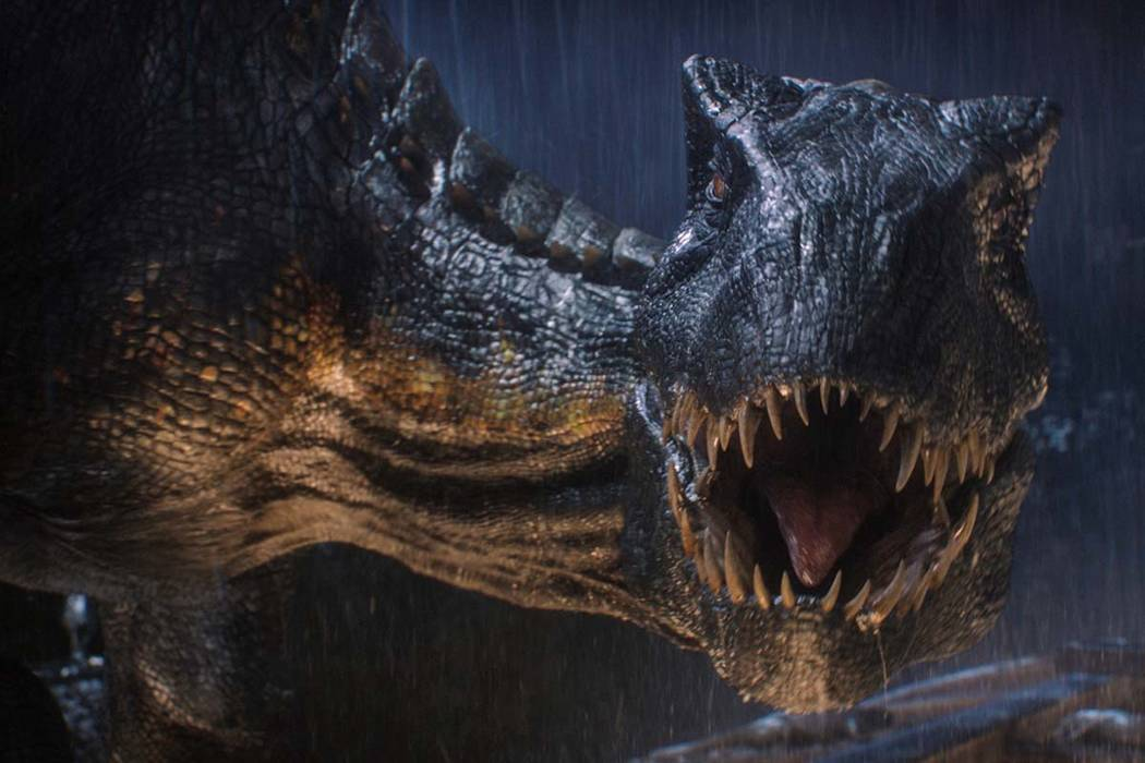 "The Indoraptor prepares to strike in ""Jurassic World: Fallen Kingdom."" When the island's dormant volcano begins roaring to life, Owen and Claire mount a campaign to rescue the remaining dinosaurs ..."