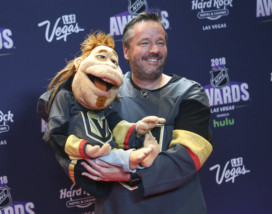 Terry Fator poses on the red carpet ahead of the NHL Awards at the Hard Rock Hotel in Las Vegas on Wednesday, June 20, 2018. Chase Stevens Las Vegas Review-Journal @csstevensphoto