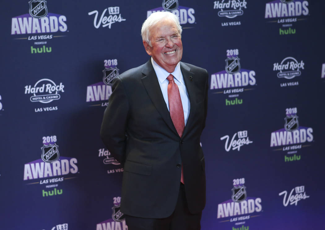 Golden Knights owner Bill Foley poses on the red carpet ahead of the NHL Awards at the Hard Rock Hotel in Las Vegas on Wednesday, June 20, 2018. Chase Stevens Las Vegas Review-Journal @csstevensphoto