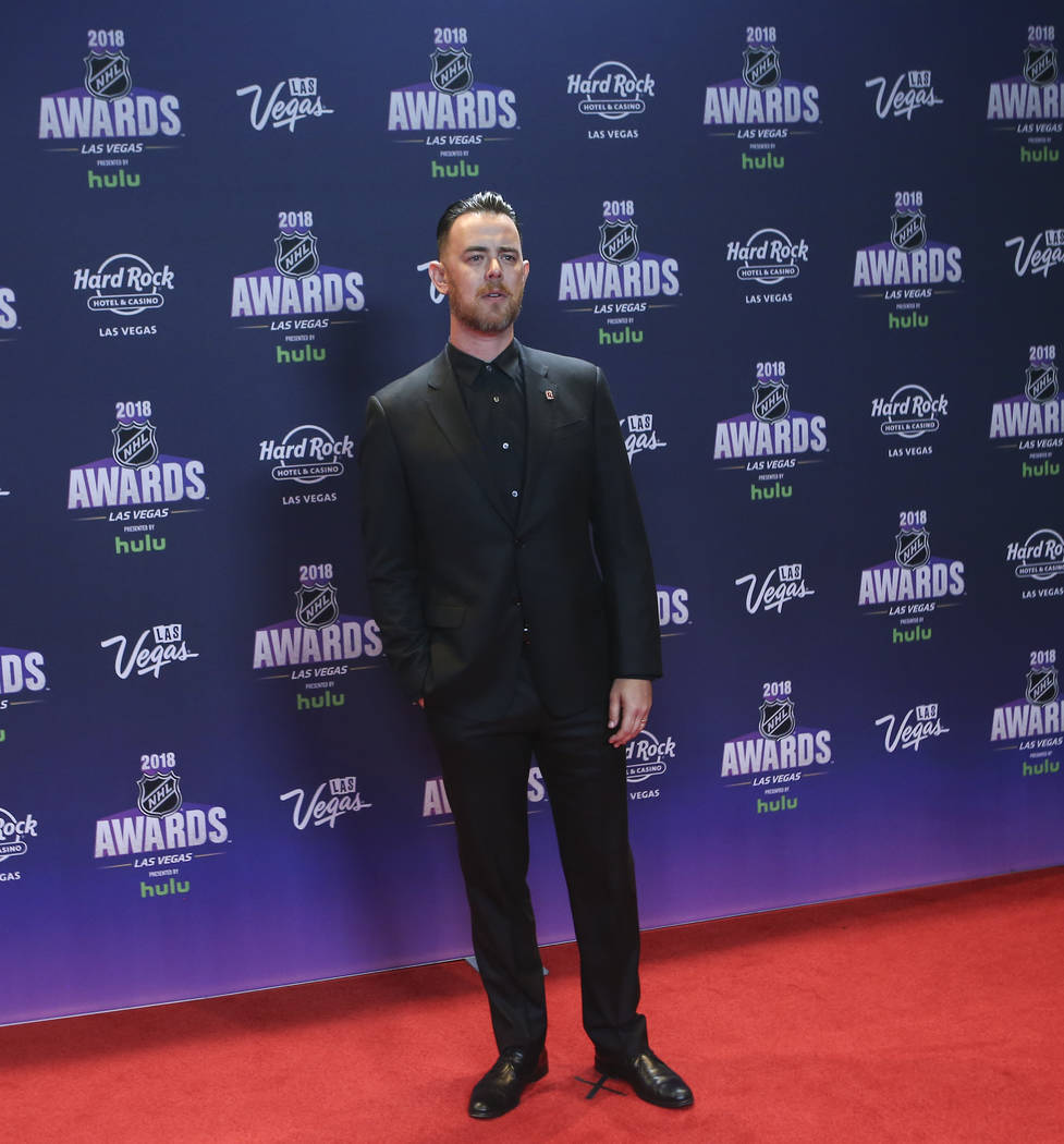 Colin Hanks poses on the red carpet ahead of the NHL Awards at the Hard Rock Hotel in Las Vegas on Wednesday, June 20, 2018. Chase Stevens Las Vegas Review-Journal @csstevensphoto