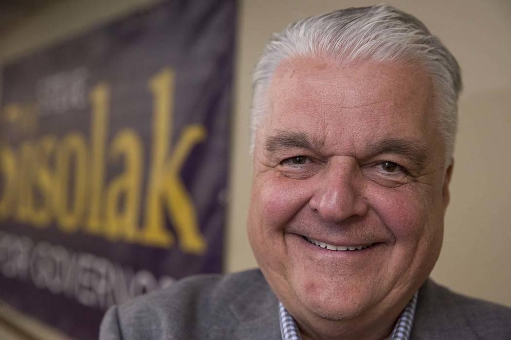 Democratic gubernatorial candidate Steve Sisolak. Richard Brian Las Vegas Review-Journal @vegasphotograph
