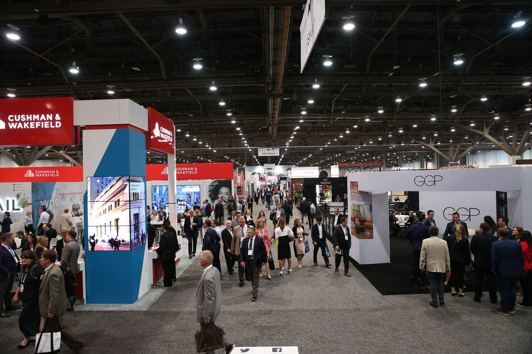 People attend ReCon at the Las Vegas Convention Center May 22. (Erik Verduzco RJRealEstate.Vegas)