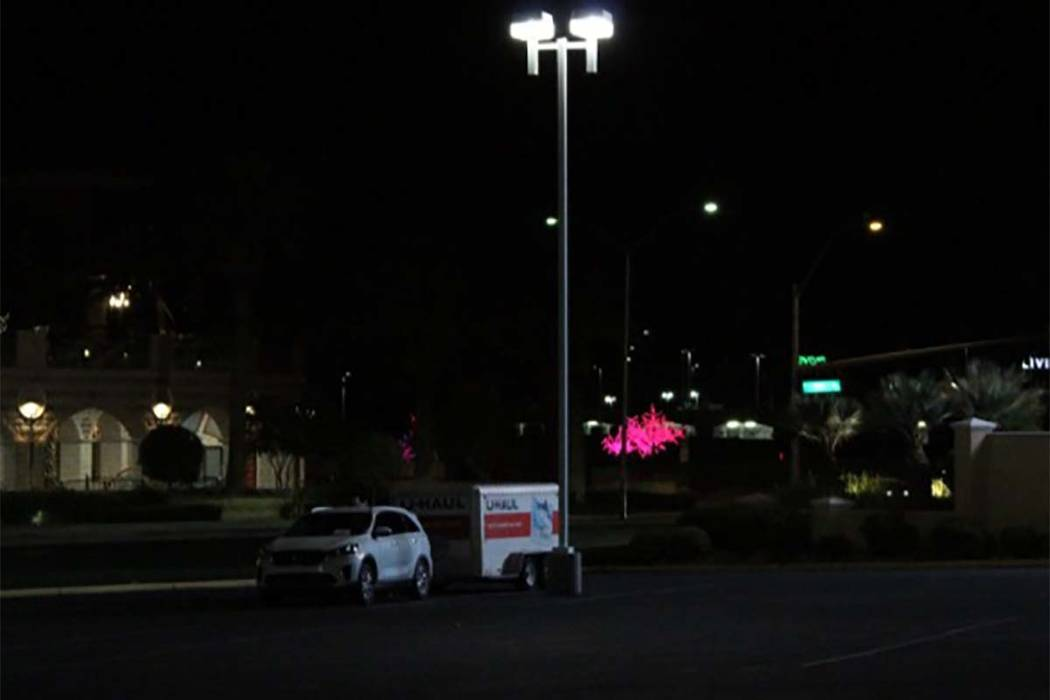 The Suncoast briefly was locked down Wednesday night and restaurants at Tivoli Village were evacuated while police investigated a suspicious vehicle. (Max Michor/Las Vegas Review-Journal)