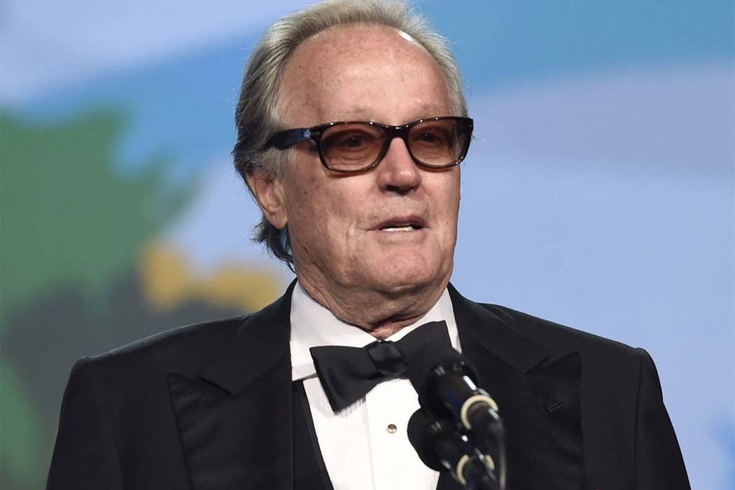 n this Jan. 2, 2018 file photo, Peter Fonda presents the Desert Palm achievement award at the 29th annual Palm Springs International Film Festival in Palm Springs, Calif. (Chris Pizzello/Invision/AP)