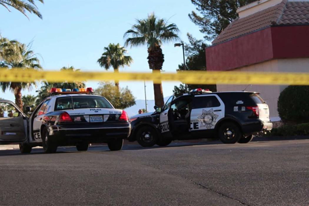 Las Vegas police are investigating two related kidnappings early Thursday morning near Buffalo Drive and Sahara Avenue. (Max Michor/Las Vegas Review-Journal)